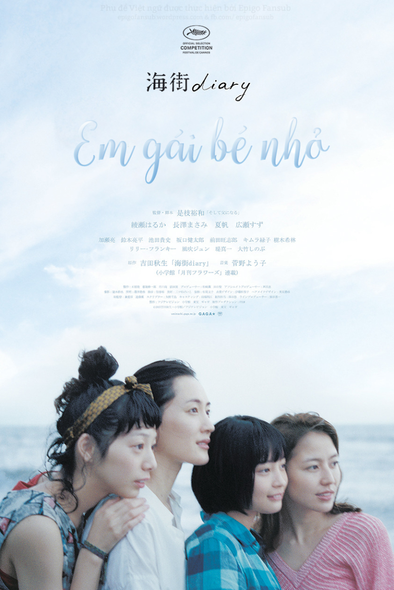 Xem phim Umimachi Diary - OUR LITTLE SISTER (ENGLISH TITLE) / SEA TOWN DIARY (LITERAL TITLE)  Em gái bé nhỏ (2015) Vietsub
